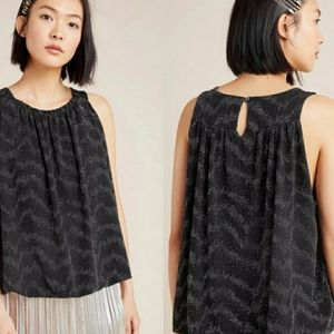 Anthropologie Carly Shimmer Top NWT